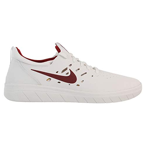 Womens Nike Sb (Nike Unisex-Erwachsene Sb Nyjah Free Fitnessschuhe, Mehrfarbig (Summit White/Team Crimson 000), 44.5 EU)