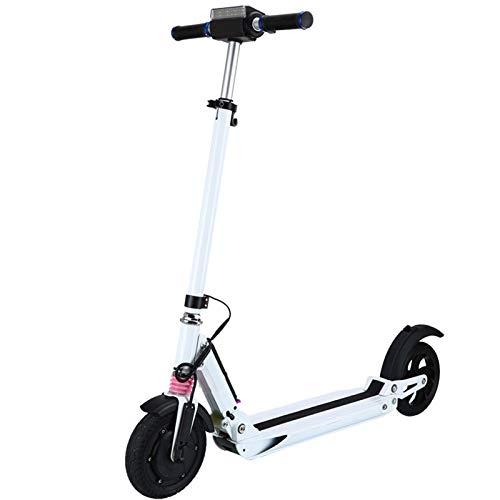 WBaRJ Monopattino Elettrico - Pieghevole Portatile - Scooter da 8 Pollici - Smooth & Fast Ride,White