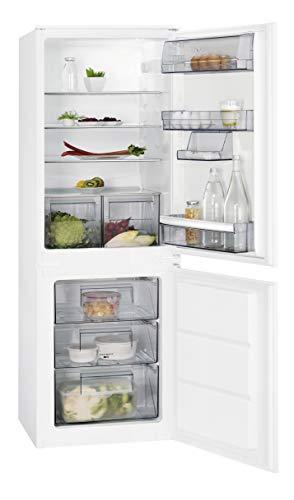 AEG SCE51621LS Einbau Kühl-Gefrier-Kombination mit Gefrierteil unten / 160 l Kühlschrank / 72 l Gefrierschrank / großer Einbaukühlschrank mit Glasablagen / LowFrost / Einbau-Höhe: 158 cm / weiß