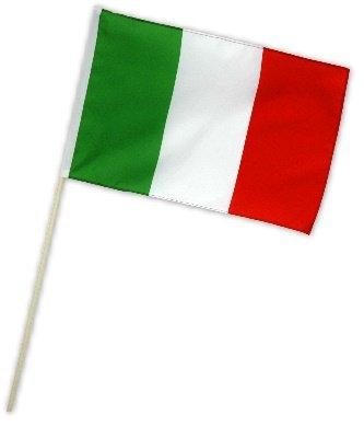 Fahne Flagge Italien 30 x 45 cm mit Stab -