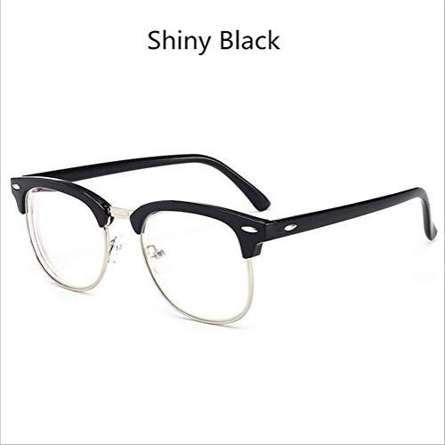 Blue Light Shield Computer-Lesebrille/Gaming-Brille - 0,0-fache Vergrößerung Geringe Farbverzerrung, Anti-Blue-Ray-Brille (Color : Shiny Black)