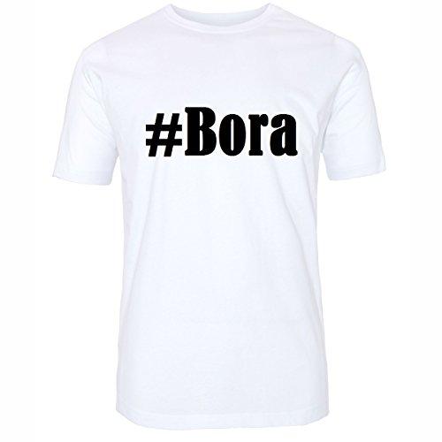T-Shirt #Bora Hashtag Raute für Damen Herren und Kinder ... in den Farben Schwarz und Weiss Weiß