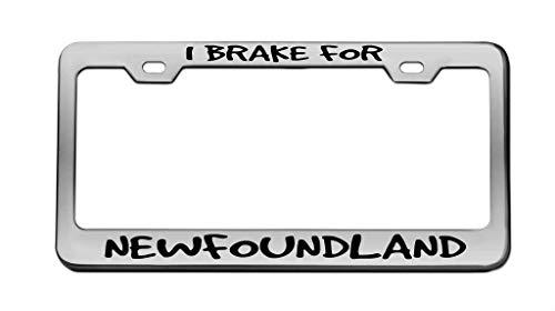 I Brake Newfoundland Animal Chrome License Plate...