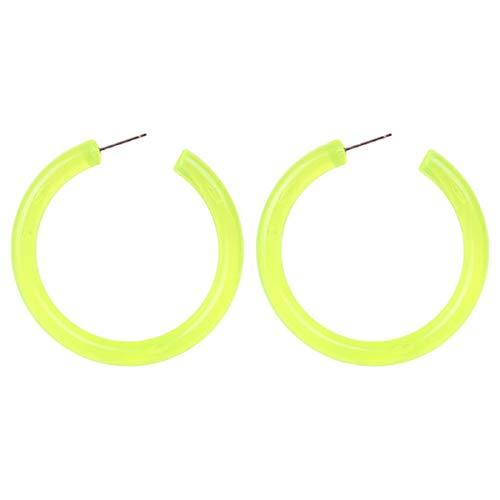 Ohrringe, Barlingrock Paar Hoop Harz Ohrringe Frauen Schmuck Geschenke Mode einfache europäische und amerikanische Ohrringe Womens Sleeper