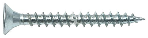 Schössmetall Spanplattenschrauben Holzschrauben Vollgewinde Senkkopf 6 x 50 mm Stahl verzinkt PZ3 250 Stück