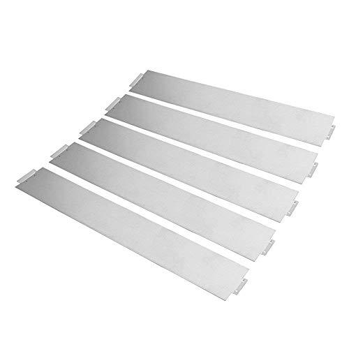 Lot de 5 bordures de gazon MCTECH® en métal galvanisé - Bordure de plate-bande - 14 cm de haut - 100 cm de long 45m