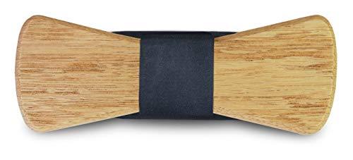 SmartWoods Herren Holzfliege Fliege, Gelb (Hugo Eiche 000), One Size (Herstellergröße:0)