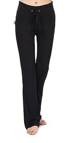 Pantalon de yoga / pilates / Pyjama Modal peau-friendly POUR Femme AVEC plusieurs Tailles et Couleurs (Noir, Medium)