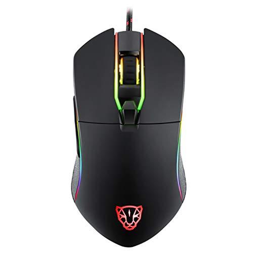 MOTOSPEED V30 Kabelgebundene Gaming Maus, 6 Tasten Cobra Gaming Maus mit 16,8 Millionen RGB Farben mit Hintergrund Beleuchtung, 35000 DPI einstellbar, komfortabler Griff, 8 Programmierbare Tasten - Cobra Usb-maus