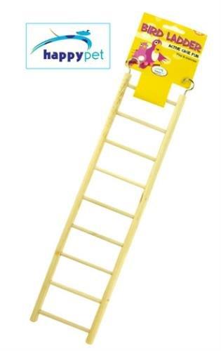 Happy Pet Wooden Bird Ladder 11 Step-9 Step (Ladder Bird Wooden)