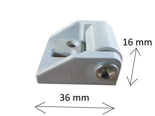31eSucLnVYL - (Lot de 8) de 16mm en caoutchouc de roue Plastique Roulettes pivotantes plaque de métal avec meubles Appliance et équipements Petite Mini Ensemble de roues de roulettes