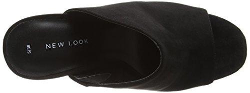New Look Damen Sneak 2 Peep-Toe Schwarz (Schwarz)