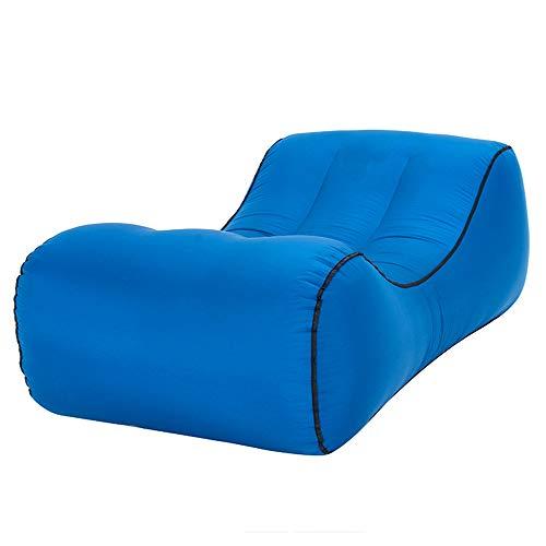 DDSGG Aufblasbares Sofa,Luft Sofa Couch,Tragbarer Wasserdichter Schlafsack Ultraleichtes Bett,Fuer Camping, Park, Strand, Hinterhof,165 * 70 * 40CM