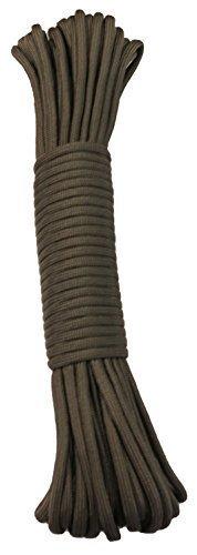 15 m / 50 FT - 4 mm Parachute Cord Seil mit 7 Strängen verschiedene Farben Schnur Fallschirmschnur Schnüre Allzweck Reepschnur Tau Bundeswehr, Survival, Bootsport, Sport, Camping, Segeln, Angeln, Fischen, Wandern reißfest Parachute Cord 550lbs **NICHT ZUM KLETTERN GEEIGNET** (Grau, 15m / 50FT)