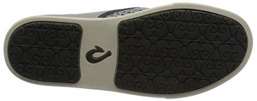 Olukai Woman Sneaker Pehuea Leather Clay Pale Grey/Charcoal