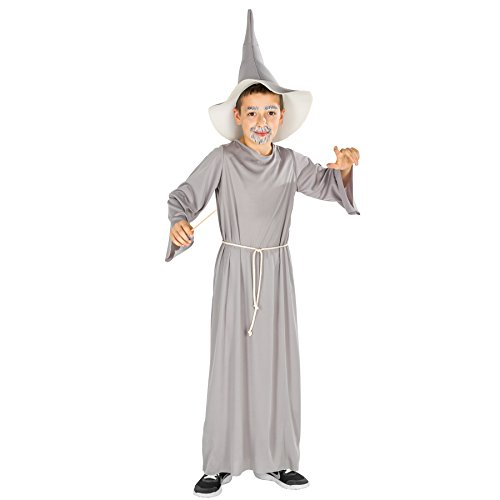 auberer Kostüm | Langes Zauberer-Gewand inkl. Magier Hut und Kordel (12-14 Jahre | no. 300019) (Mystische Zauberer Kostüm)