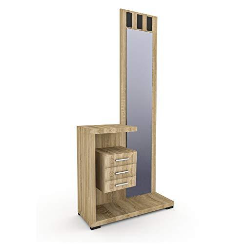 HomeSouth - Recibidor con Espejo y Tres cajones
