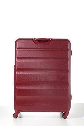 Aerolite Große Leichtgewicht ABS Hartschale 4 Rollen Trolley Koffer Reisekoffer Hartschalenkoffer Rollkoffer Gepäck , 79cm , Wein - 5