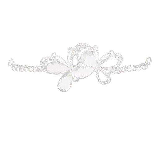 Boda Tiara Cristalina Nupcial Patrón De La Corona Rhinestone Mariposa Diadema