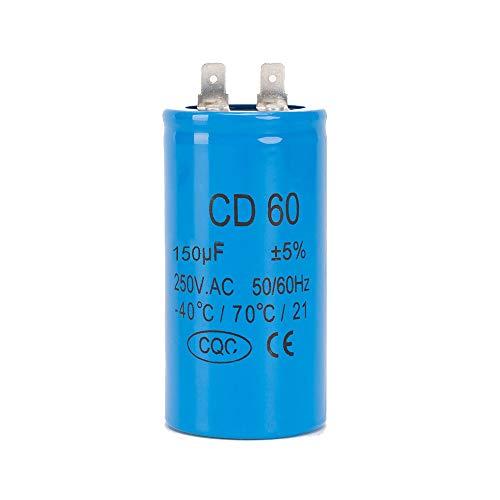 ICQUANZX 150UF CD60 Einzelblattmotor Autowaschmaschinenkondensator mit 450 V 50/60 Hz für den Start von Wechselstrommotoren mit Einer Frequenz von 50 Hz / 60 Hz. Hz Wie Klimaanlagen und Motoren -