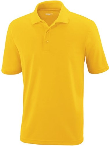 CORE 365 Herren Pinnacle Performance Short Sleeve Pique Polo Shirt CAMPUS GOLD 444