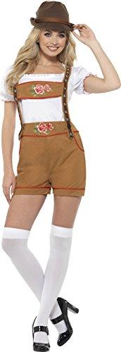 SMIFFY 'S 49654l Sexy Bayerische Bier Mädchen Kostüm, braun, L–UK Größe 16–18