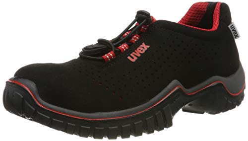 Uvex Herren Motion Style Arbeitssneaker, Schwarz-Rot, 41 EU