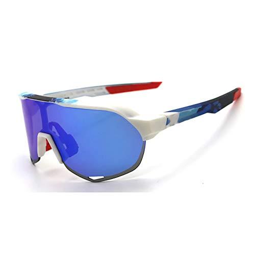 HAOYU Bergsteigen Sonnenbrille UV-Schutz Spiegel Outdoor Sports Bike Brille Motorrad Reitbrille Geeignet für Erwachsene Männer, Frauen,A
