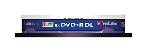 Vm36676 verbatim dvd + r 8x double layer non stampabile mandrino pk 10 43666