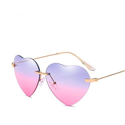 ZHENCHENYZ Retro Metall Liebe Herz Sonnenbrille Frauen Vintage Mode Gold Rahmen Regenbogen Linsen Schatten Brillen Mädchen