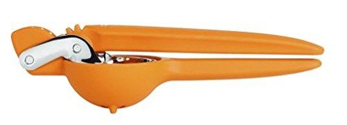 Chef'n Orangenpresse FreshForce, manuelle Saftpresse, Handpresse, Orangenentsafter, zum leichten Auspressen von Orangen (Farbe: Orange/Silber), Menge: 1 Stück