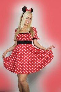 loveorama.de Damen Kostüm Sexy Outfit Minnie Maus, S, M, L