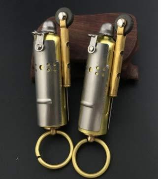 Stahl Messing Kreatives Vintage Kerosin Antik Flint Silber Zweiter Weltkrieg Feuerzeug