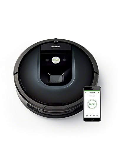 iRobot Roomba 981, aspirateur robot, idéal pour les tapis avec forte puissance d'aspiration, avec Power boost, navigation plusieurs pièces, connecté en WiFi et programmable via application