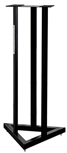 Pronomic SCS-20 Stativ für Studio Monitor Ständer (Höhe: 90 cm, Dreiecksbasis, Gummifüße, Dornenfüße/Spikes, Sicherheitssplint, Stahl, Trägerplatte mit Gummistreifen) Schwarz pulverbeschichtet