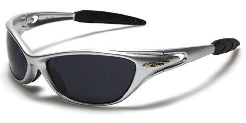Occhiali da sole x-loop - sport - ciclismo - sci - driving - moto - arrampicata / mod. 1170 grigio / un formato adulto / 100% protezione uv-400