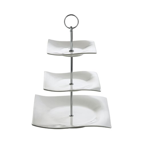 Maxwell & Williams RP11703 Motion Etagere, Servierständer, Servierplatte, 3-stöckig, in Geschenkbox, Porzellan