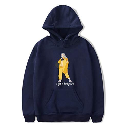 Billie Eilish Hoodie Bellyache Klassischer Stil Kapuzenpulli Personalisierte Mode Unisex Pullover Lässige Hip Hop Kleidung für Junge und Mädchen-03-Royal-2XS (Stiles Hoodie)