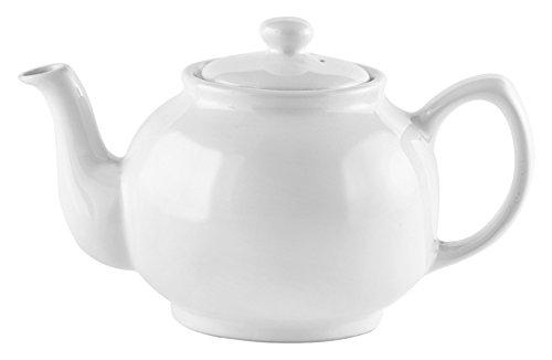 Price & Kensington Teekanne mit Deckel - klassische englische Teekanne - Weiß - 6 Tassen