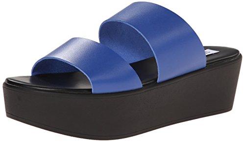 Steve Madden Flyer Cuir Sandales Compensés blue