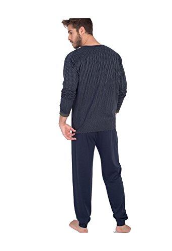 MASSANA Herren Schlafanzug Marineblau