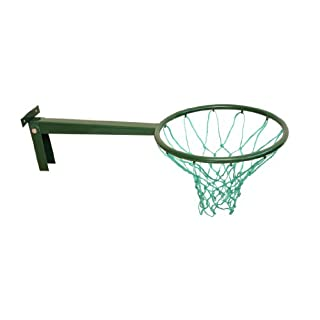 British Made Long Reach Removable Netball Ring with robust bracket and top quality 3mm twine.