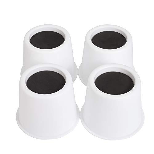 2 Lb 4 (Aocool Verstellbare Betterhöhungen, hebt Möbelerhöhungen, erhöht 5,1 cm Höhe zu schweren Möbeln oder Betten (Set von 4 Stück), unterstützt 2.000 lbs (weiß))