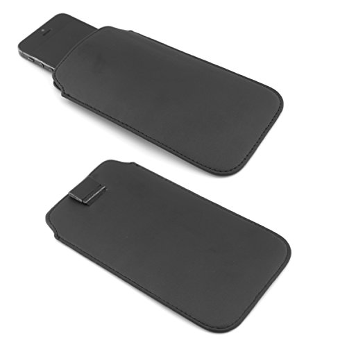 TheVeryMe® - universali 4,0 pollici - dimensioni interne 12 cm x 6 cm - Cuoio Nero - Caso della copertura Premium Luxury cassa del telefono mobile Shell
