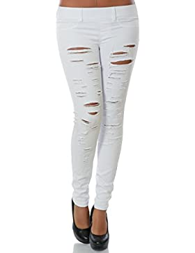 Damen Treggings Hose Skinny (Röhre weitere Farben) No 14101