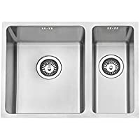 JASS Ferry Undermount Square Stainless Steel Kitchen Sink 1.5 One Half Bowl no Tap Hole 590 X 440 mm - 10 Years Warranty