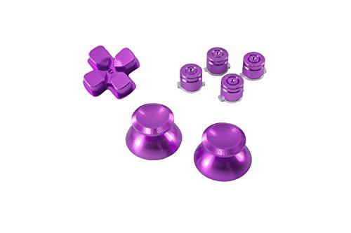 GAMINGER Patronen Button Analog-Sticks D-Pad Steuerkreuz, Aluminium für Sony PlayStation 4...