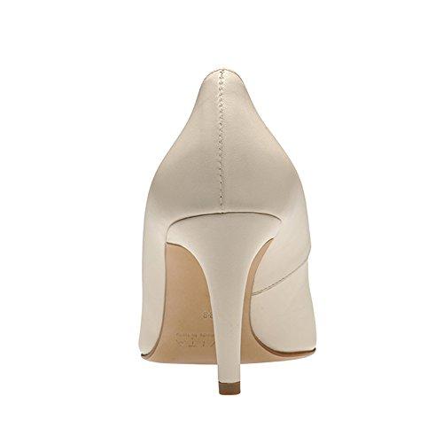 Evita Shoes Jessica Escarpins Femme Cuir Lisse Crème