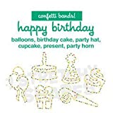 Stretchy Shapes Happy Birthday. 24 Stück: Confetti bands! 24 pack