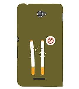 EPICCASE No Smoking Mobile Back Case Cover For Sony Xperia E4 (Designer Case)